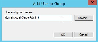 add user or group dialogue